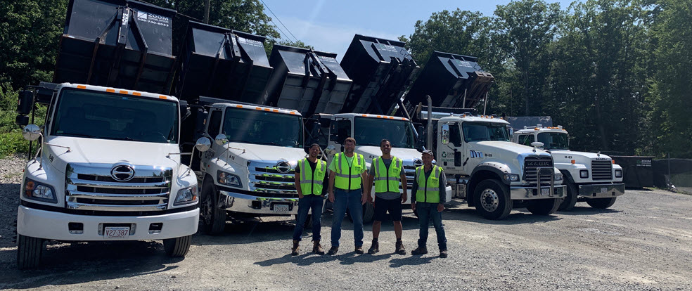 Zoom Disposal dumpster rental services team and equipment